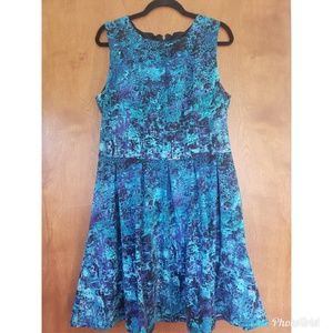 Mossimo Target size XL blue teal and purple dress